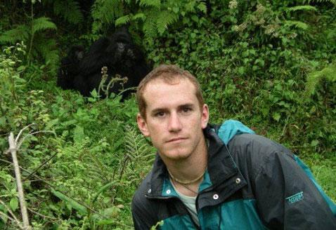 In Rwanda gorilla trekking